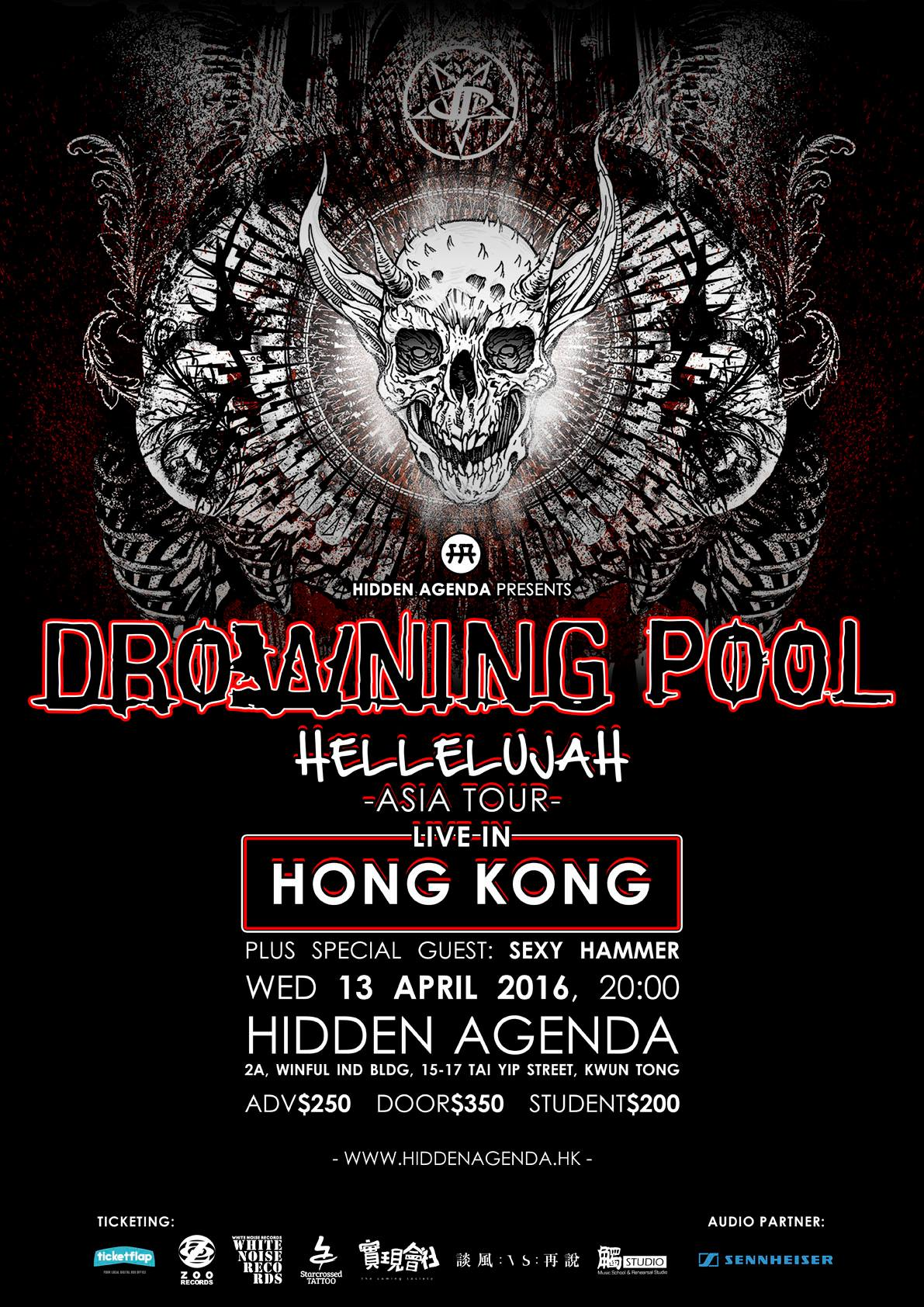Drowning Pool Hellelujah Asia Tour - Live In Hong Kong Tickets, Apr