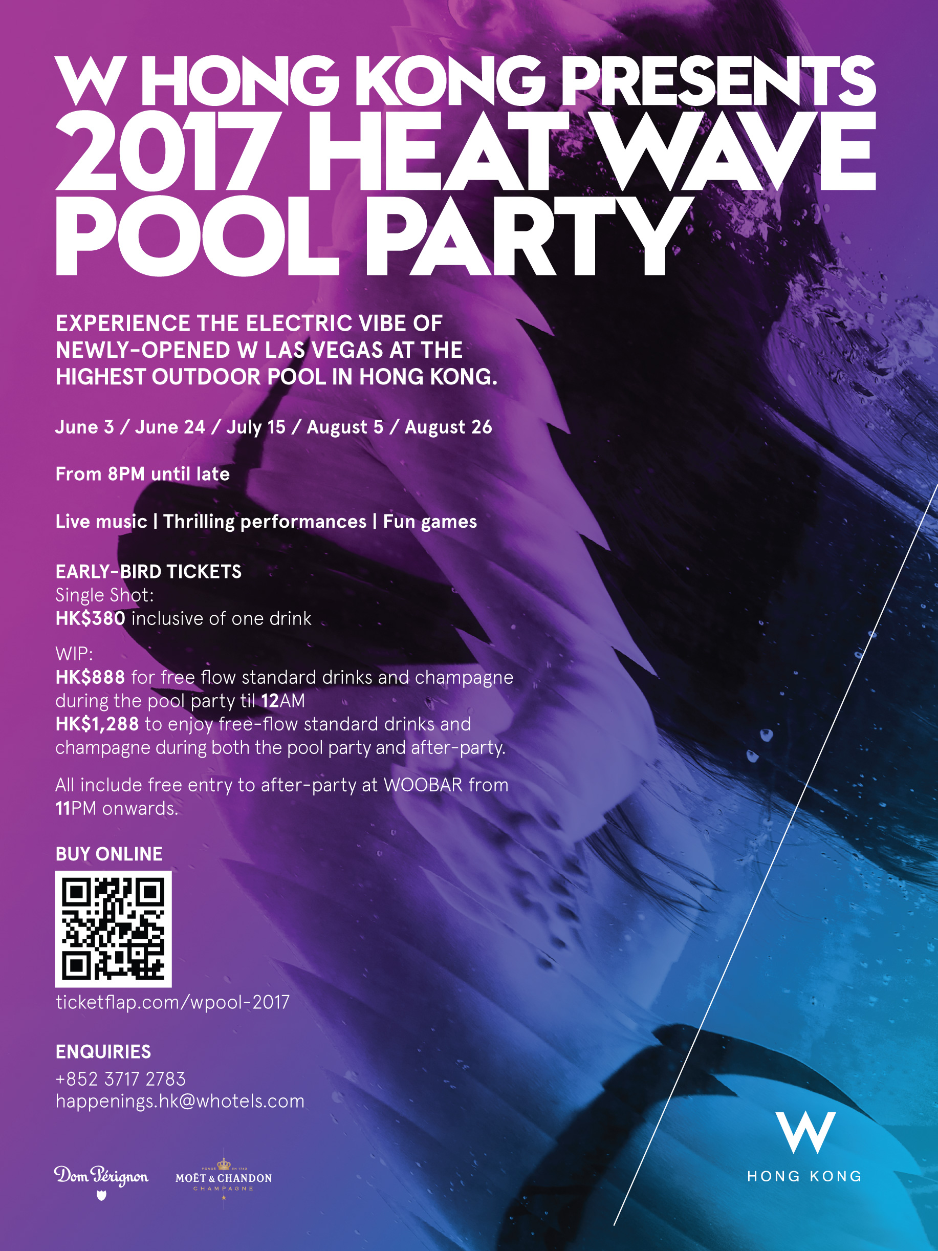 W HONG KONG PRESENTS 2017 HEAT WAVE POOL PARTY Tickets, July 15