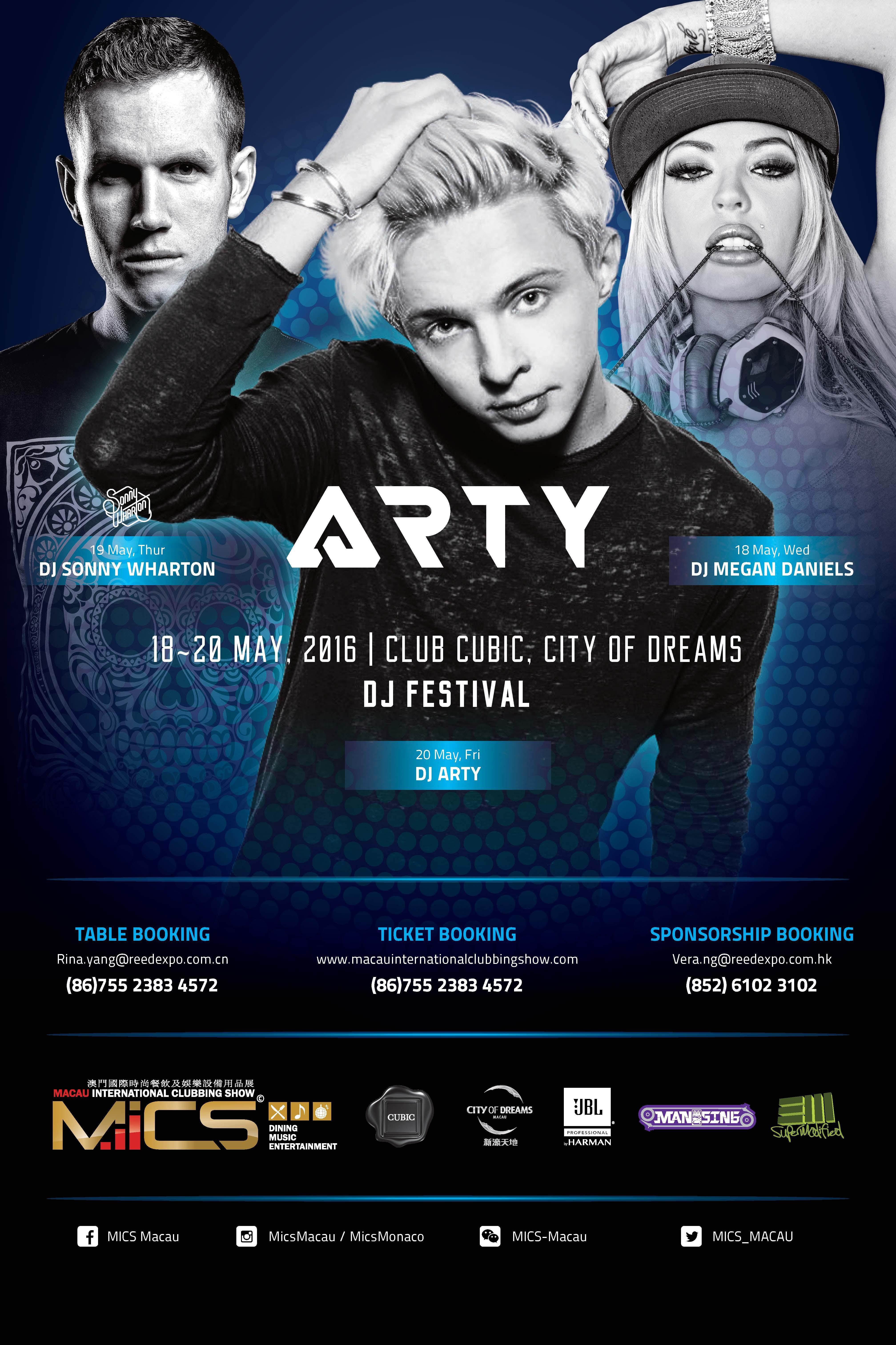 MICS Macau DJ Festival Tickets, Wed  Thu  Fri  - 18th 19th 20th May