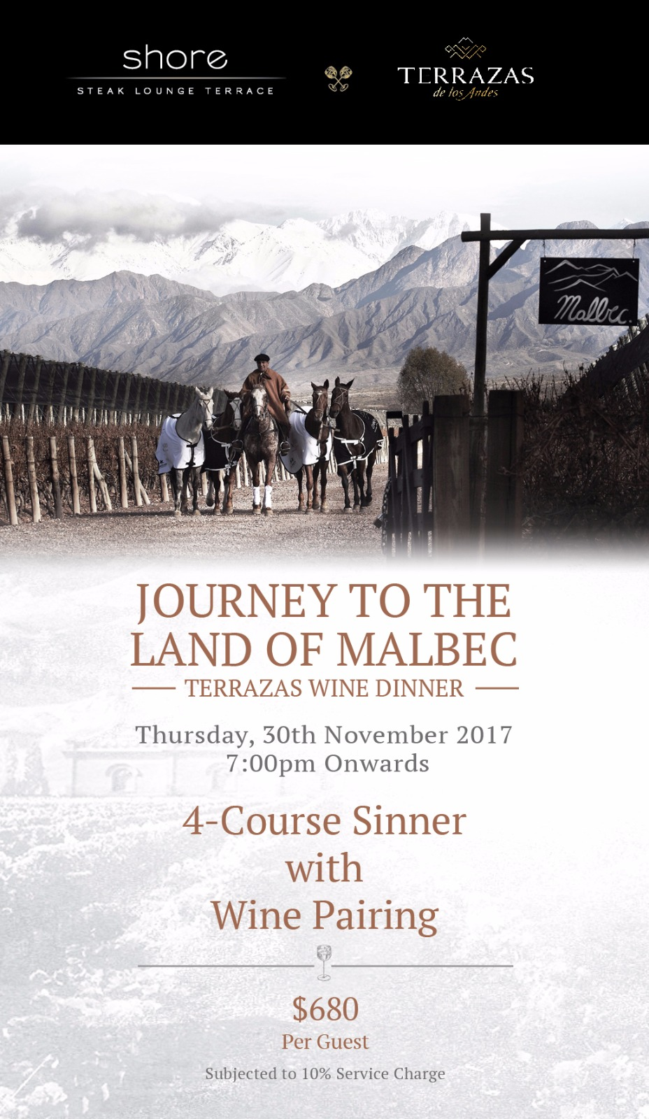 Journey To The Land Of Malbec Terrazas Wine Dinner At Shore