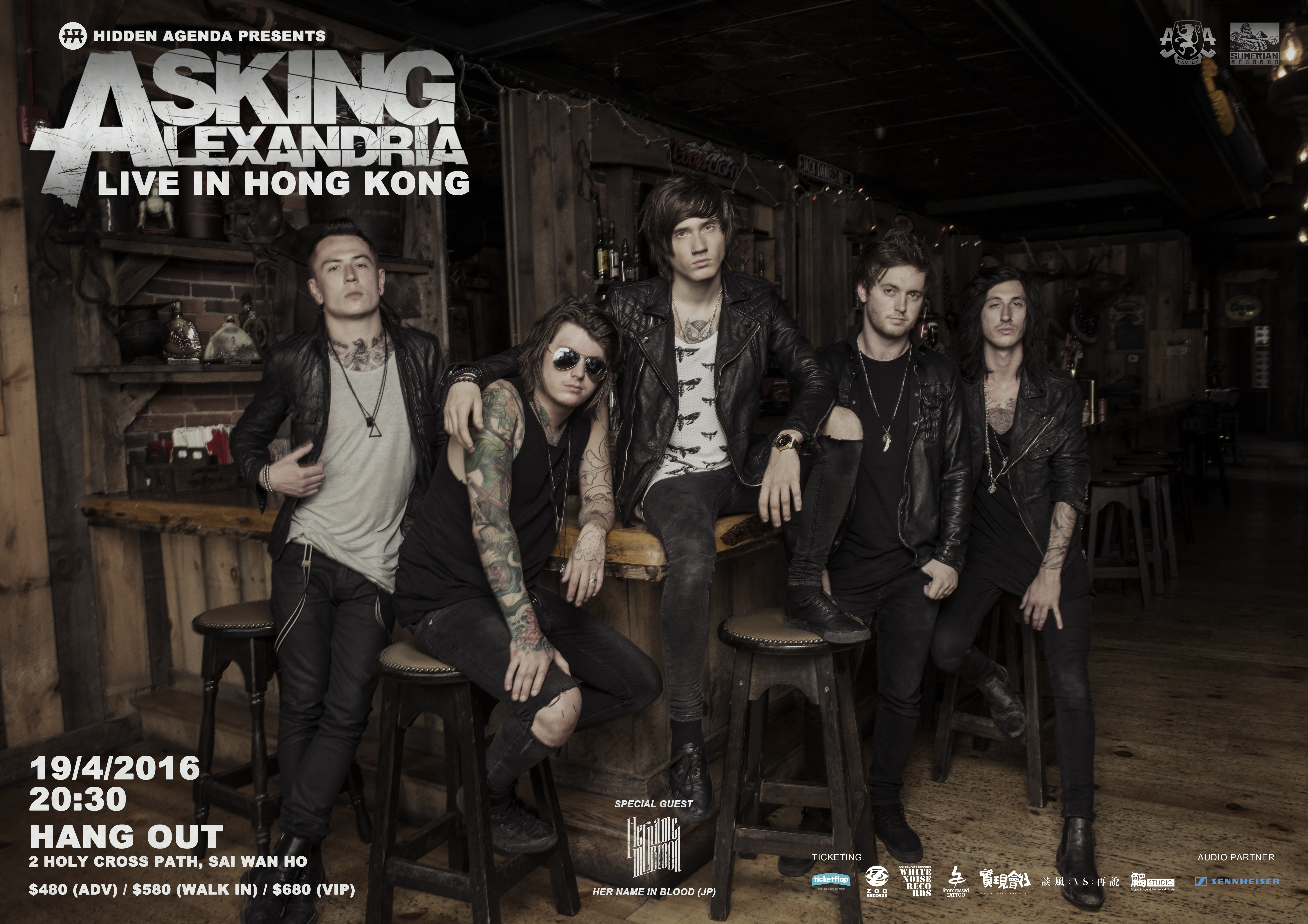 asking alexandria live in hong kong 2016 tickets apr 19 2016 ticketflap. Black Bedroom Furniture Sets. Home Design Ideas