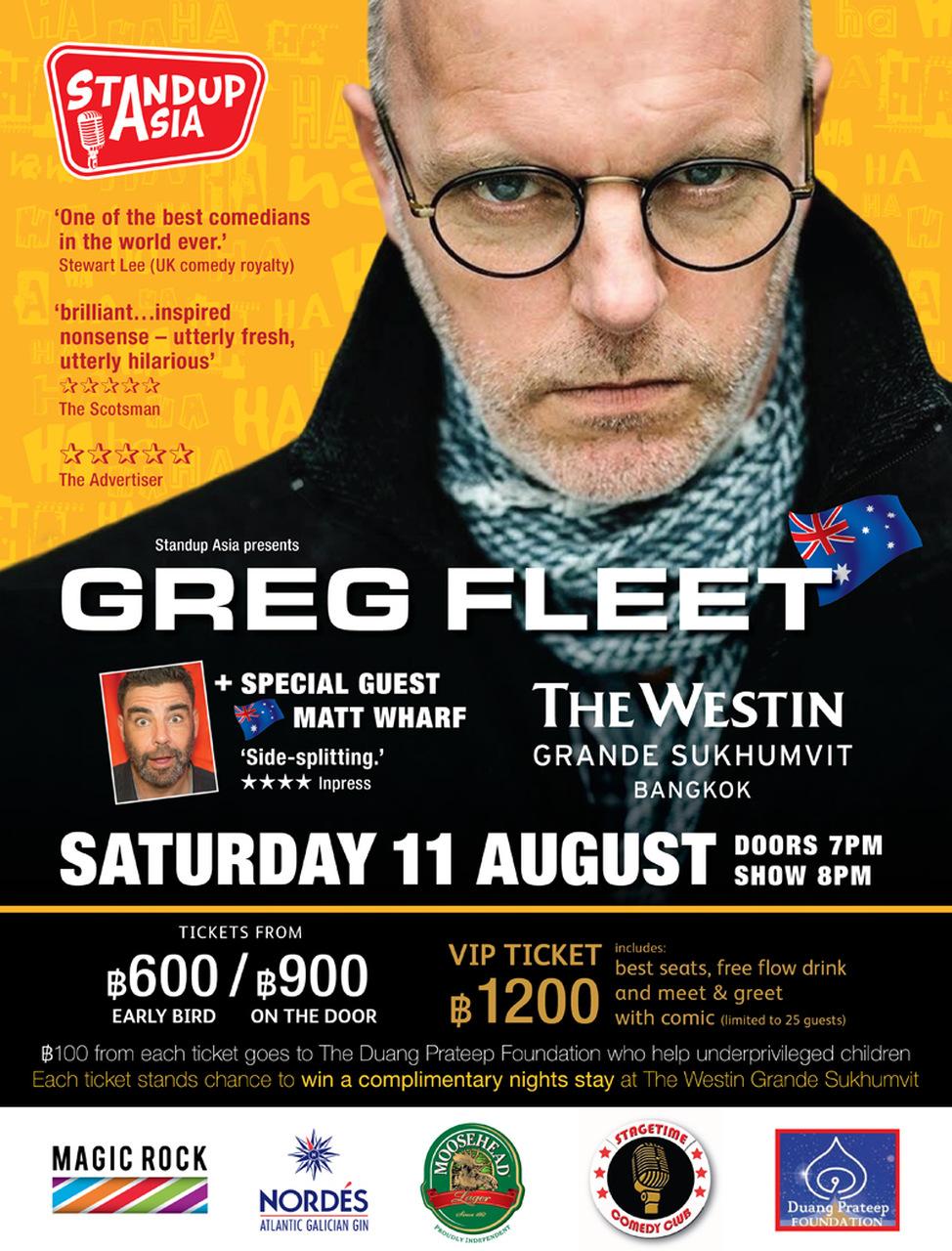 Greg Fleet Bangkok Tickets Aug 11 2018 Ticketflap